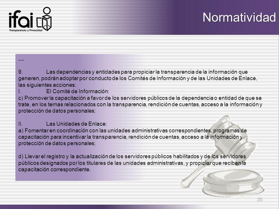Normatividad …
