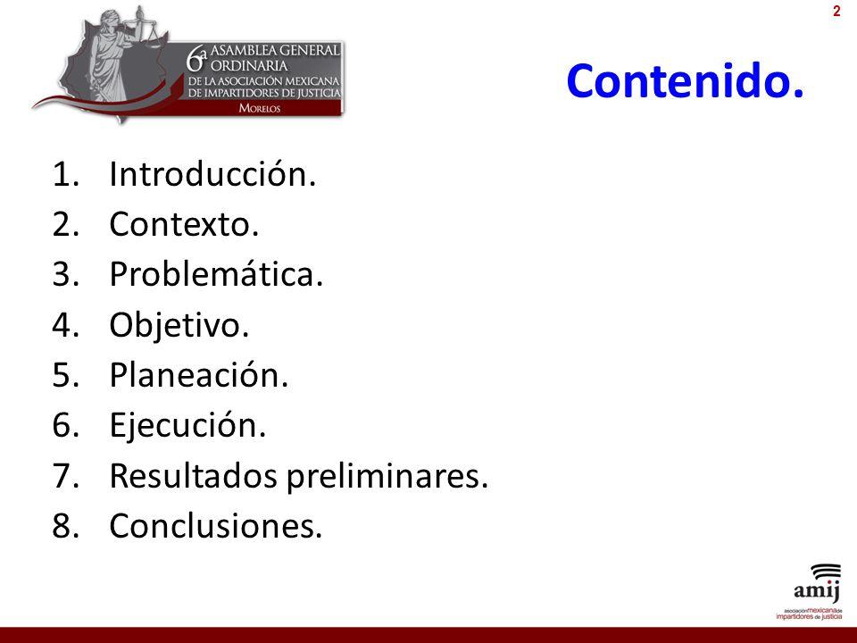 Contenido. Introducción. Contexto. Problemática. Objetivo. Planeación.
