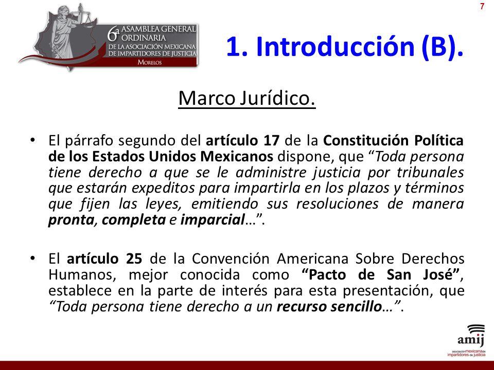 1. Introducción (B). Marco Jurídico.