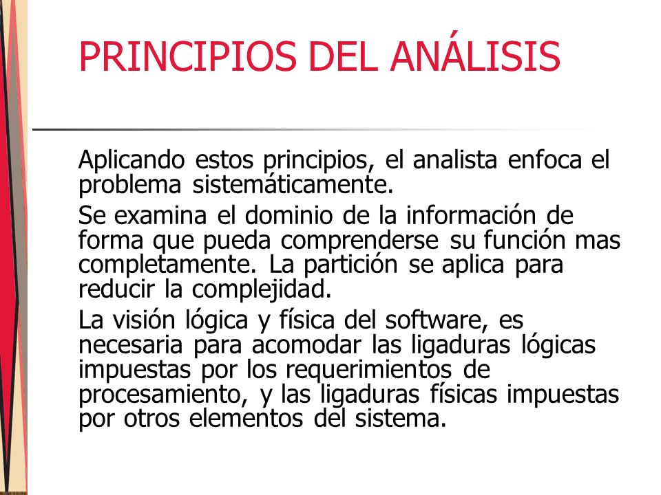 PRINCIPIOS DEL ANÁLISIS