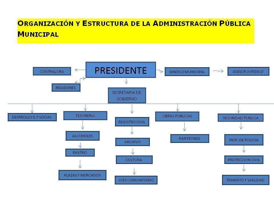 SINDICO MUNICIPAL ASESOR JURIDICO. REGIDORES. DESRROLLO E.Y SOCIAL. REGISTRO CIVIL. ALCOHOLES. PANTEONES.
