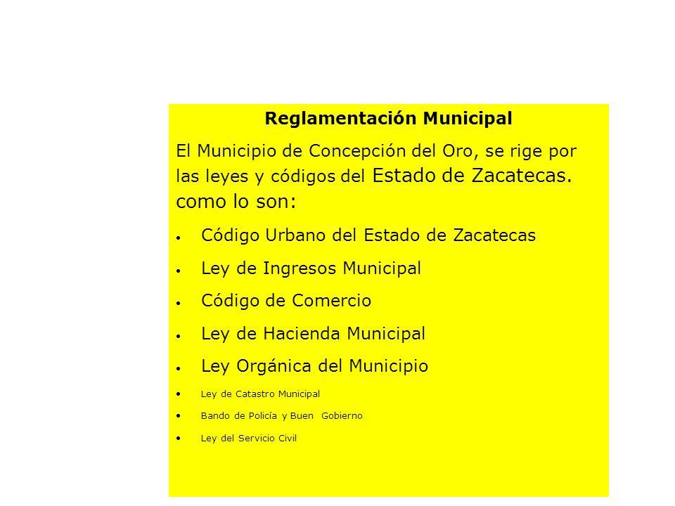 Reglamentación Municipal