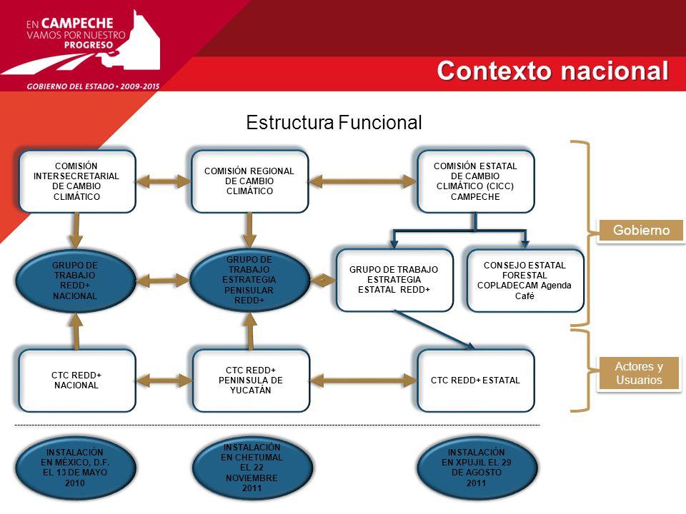 Contexto nacional Estructura Funcional Gobierno Actores y Usuarios