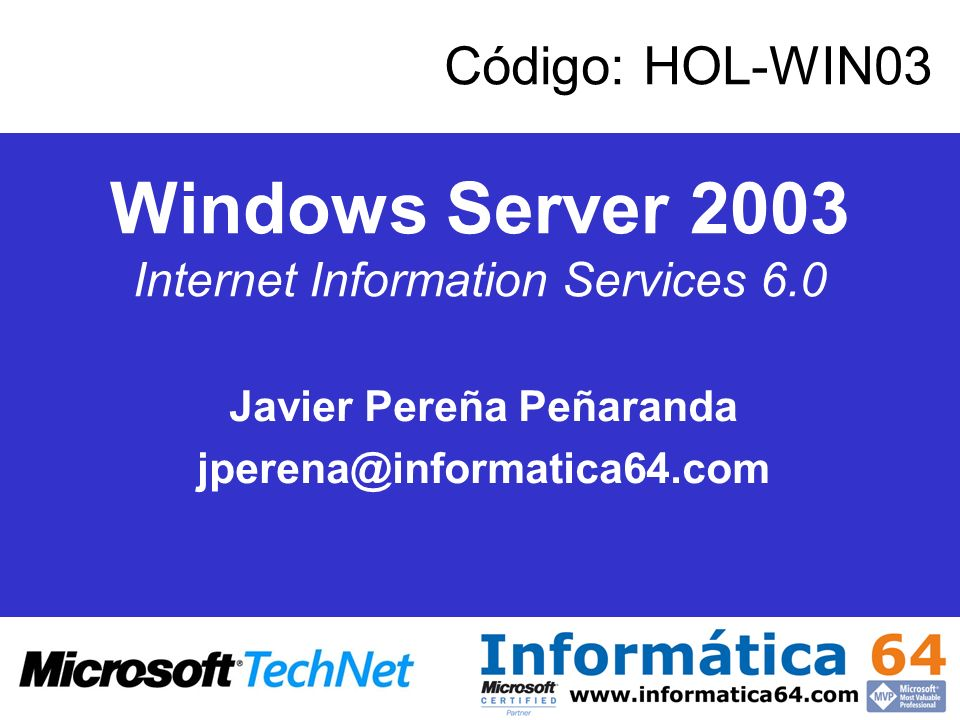 Windows Server 2003 Internet Information Services 6.0