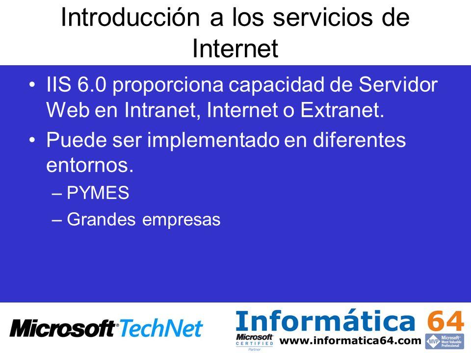 Introducción a los servicios de Internet