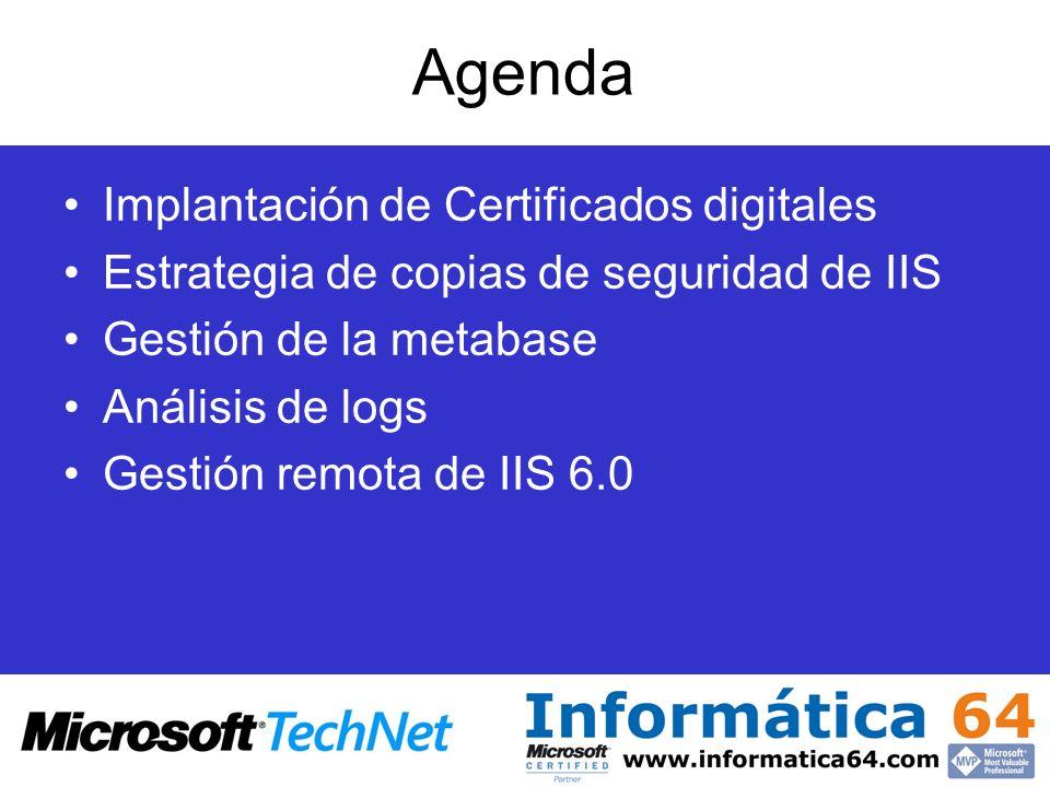 Agenda Implantación de Certificados digitales