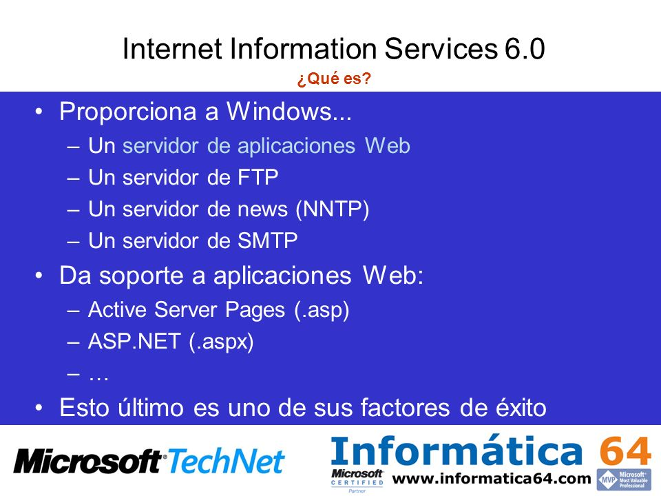 Internet Information Services 6.0 ¿Qué es