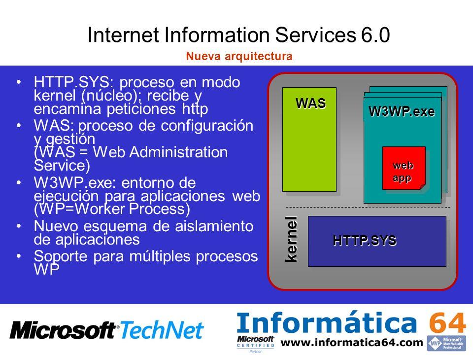 Internet Information Services 6.0 Nueva arquitectura