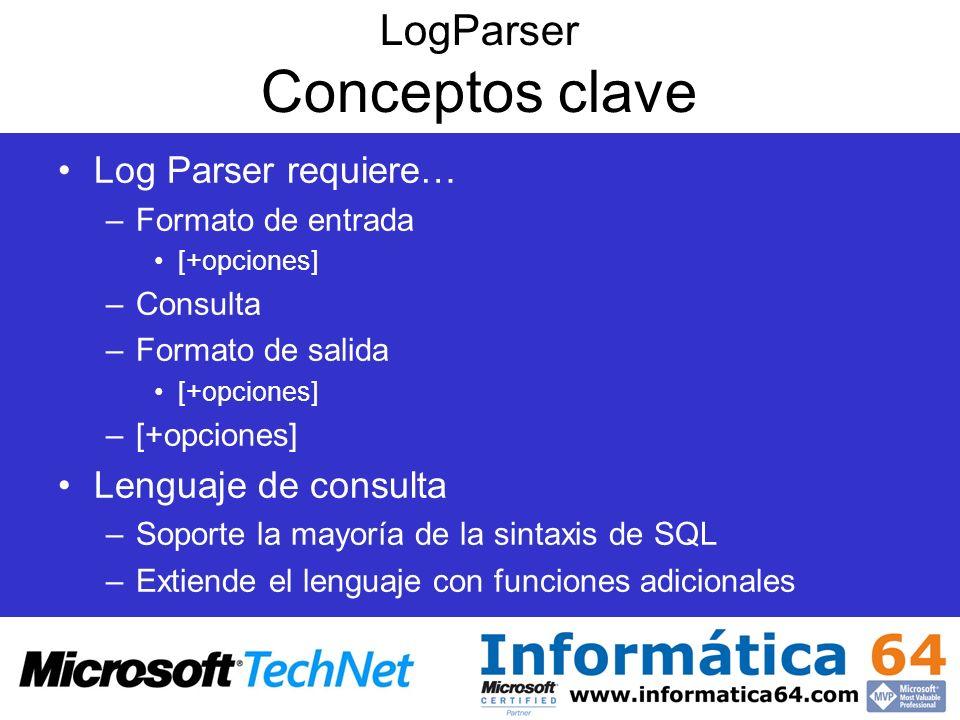 LogParser Conceptos clave