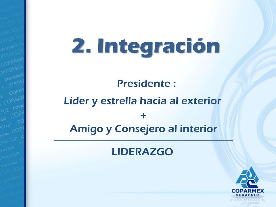 2. Integración Presidente : Líder y estrella hacia al exterior +