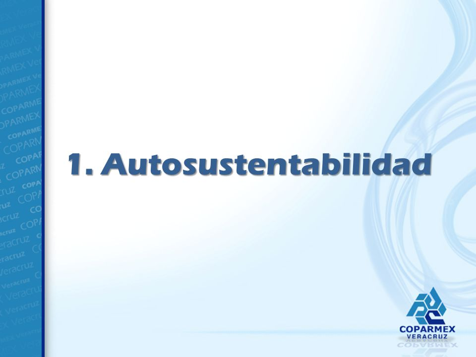 1. Autosustentabilidad