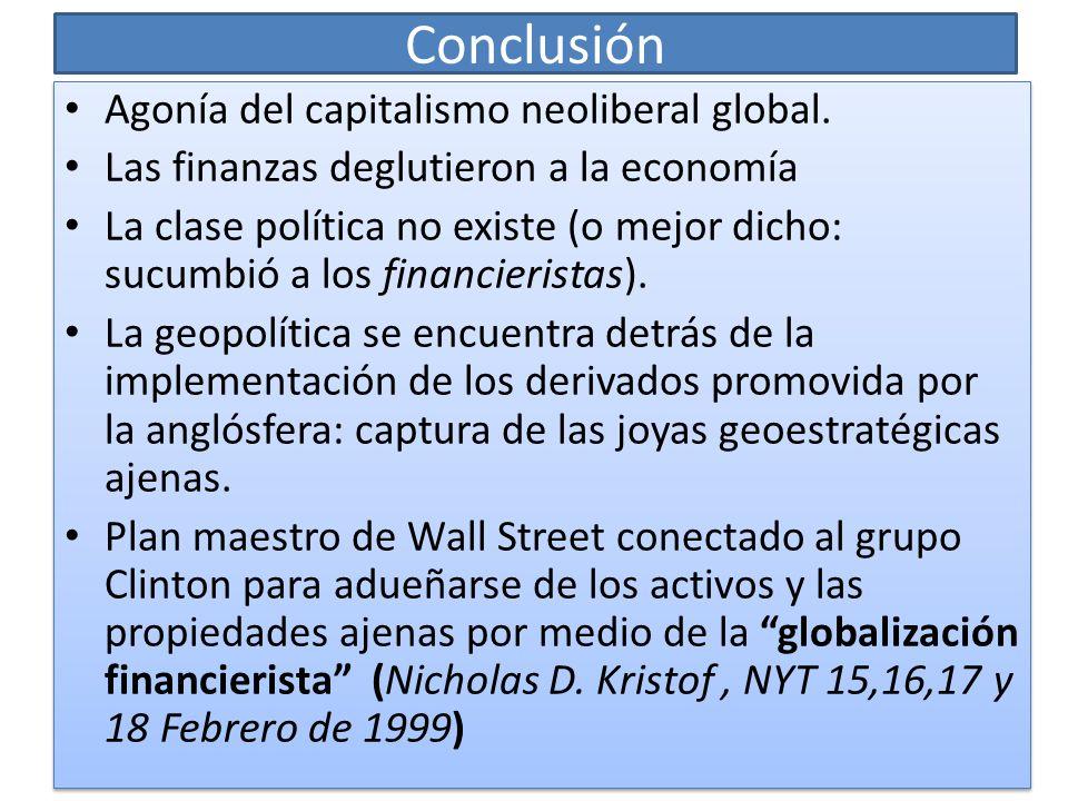 Conclusión Agonía del capitalismo neoliberal global.