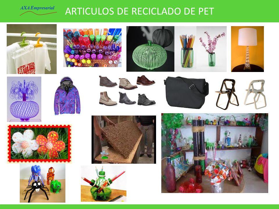 ARTICULOS DE RECICLADO DE PET