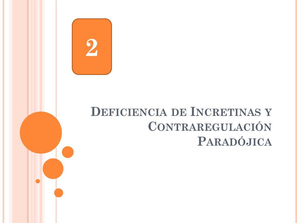 Deficiencia de Incretinas y Contraregulación Paradójica