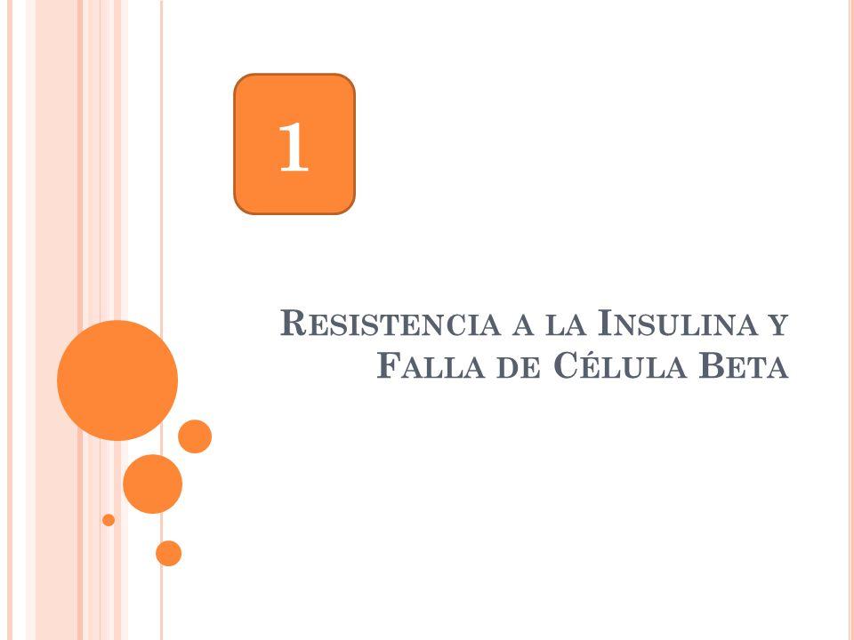Resistencia a la Insulina y Falla de Célula Beta