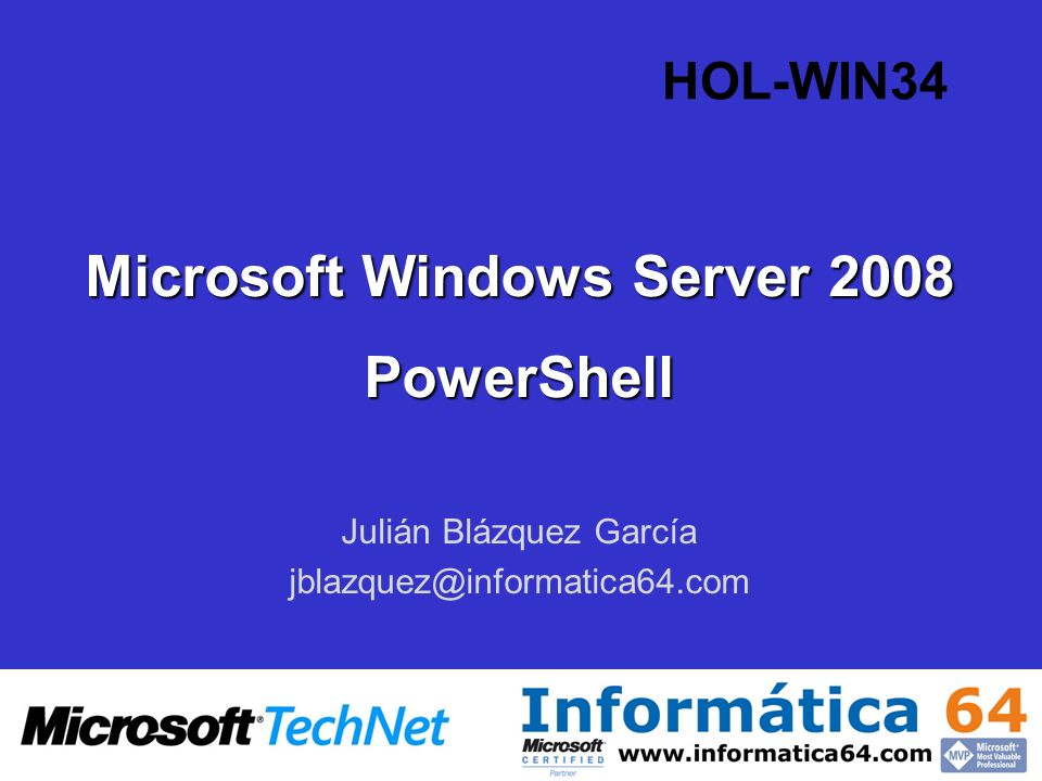 Microsoft Windows Server 2008 PowerShell