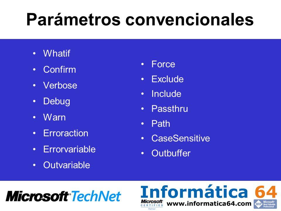 Parámetros convencionales