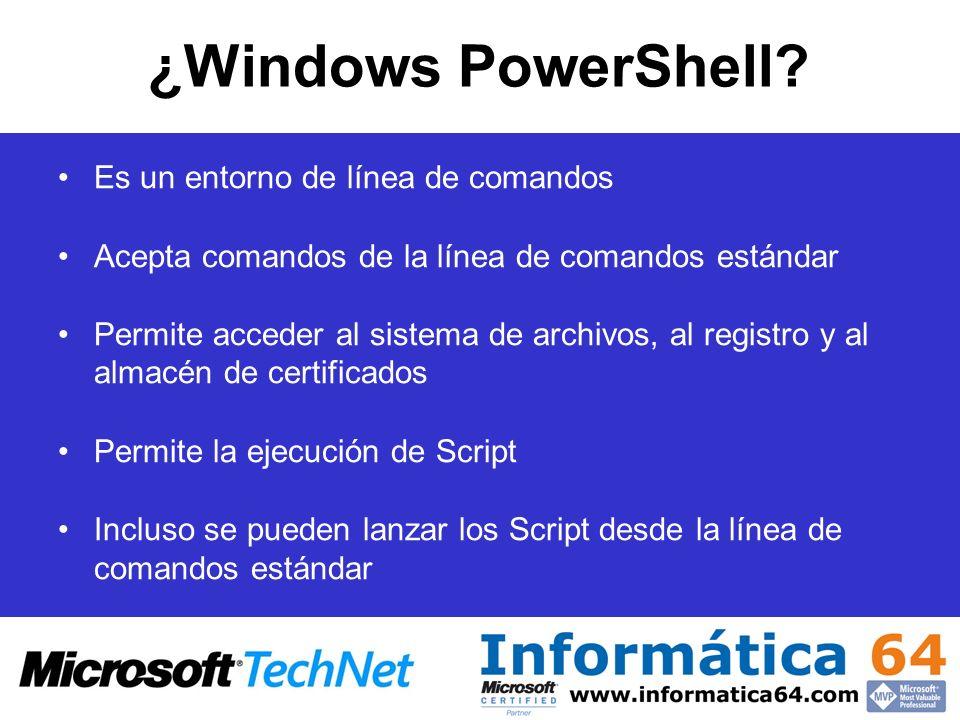 ¿Windows PowerShell Es un entorno de línea de comandos