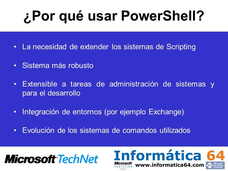 ¿Por qué usar PowerShell