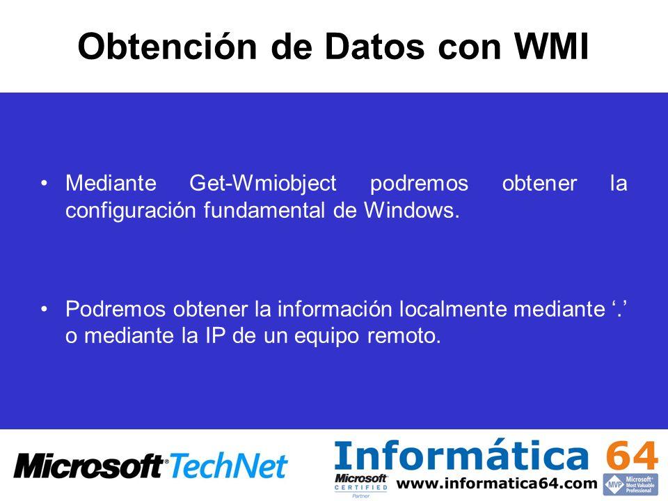 Obtención de Datos con WMI