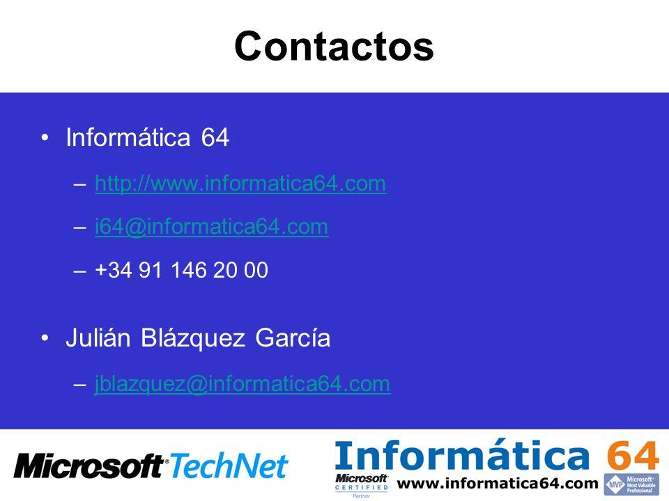 Contactos Informática 64 Julián Blázquez García