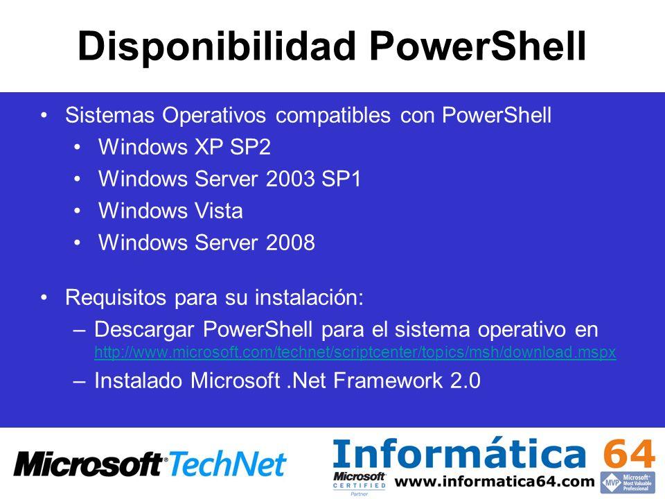Disponibilidad PowerShell