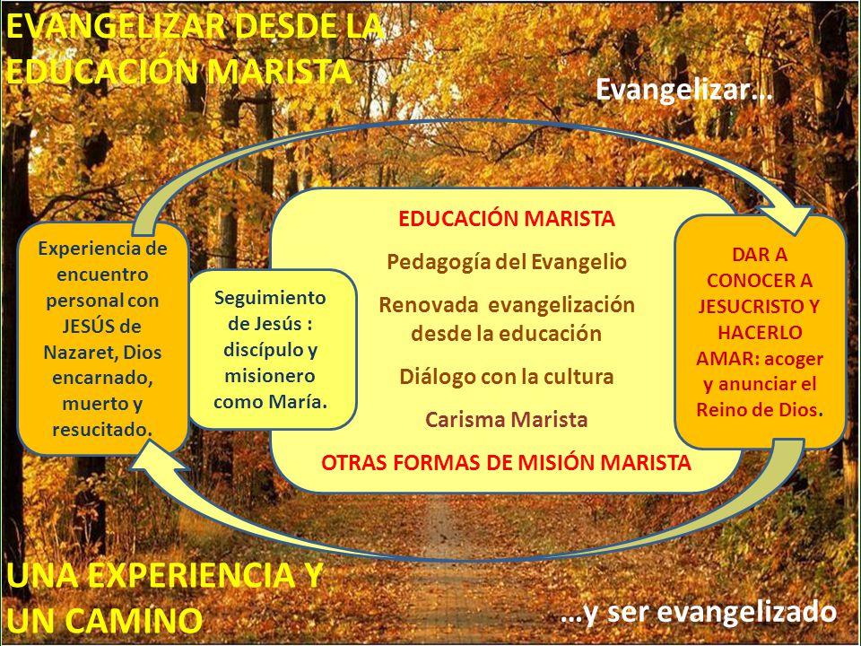 EVANGELIZAR DESDE LA EDUCACIÓN MARISTA