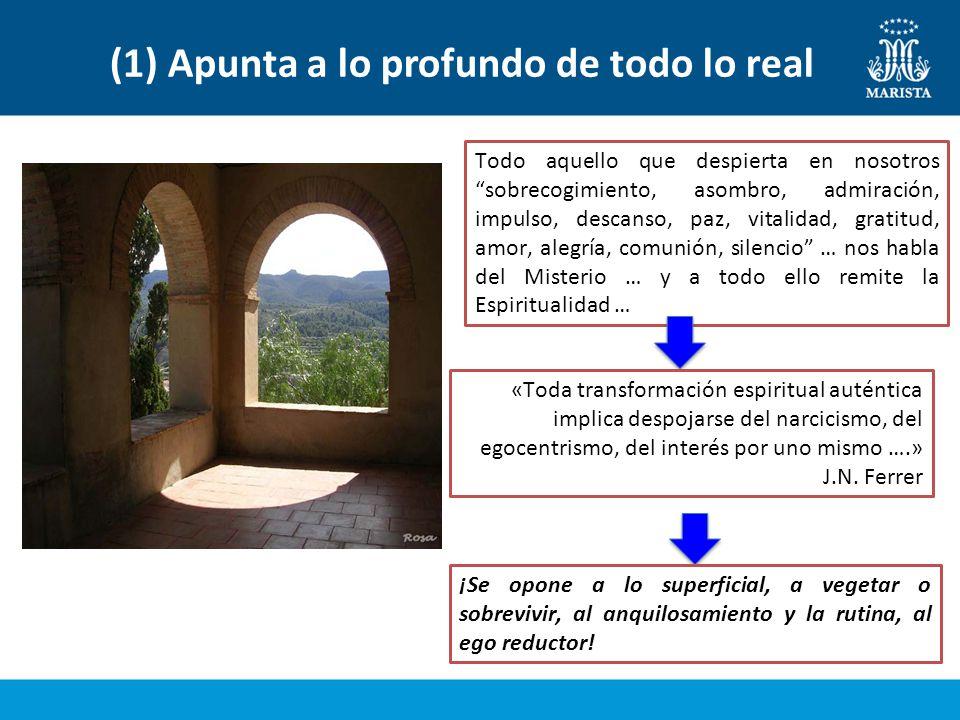 (1) Apunta a lo profundo de todo lo real