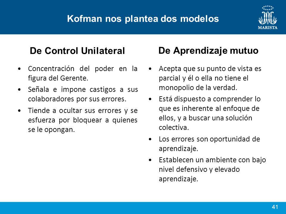 Kofman nos plantea dos modelos