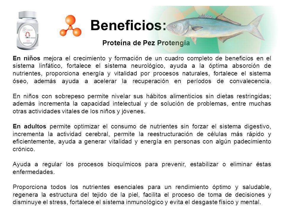 Beneficios: Proteína de Pez Protengia