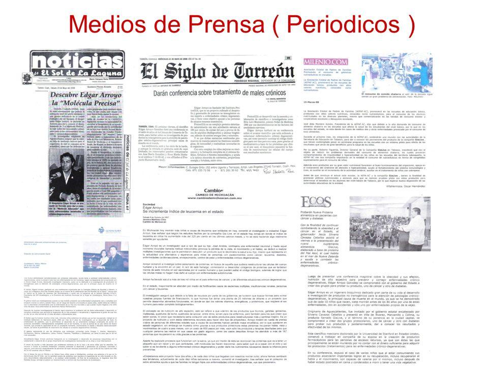 Medios de Prensa ( Periodicos )