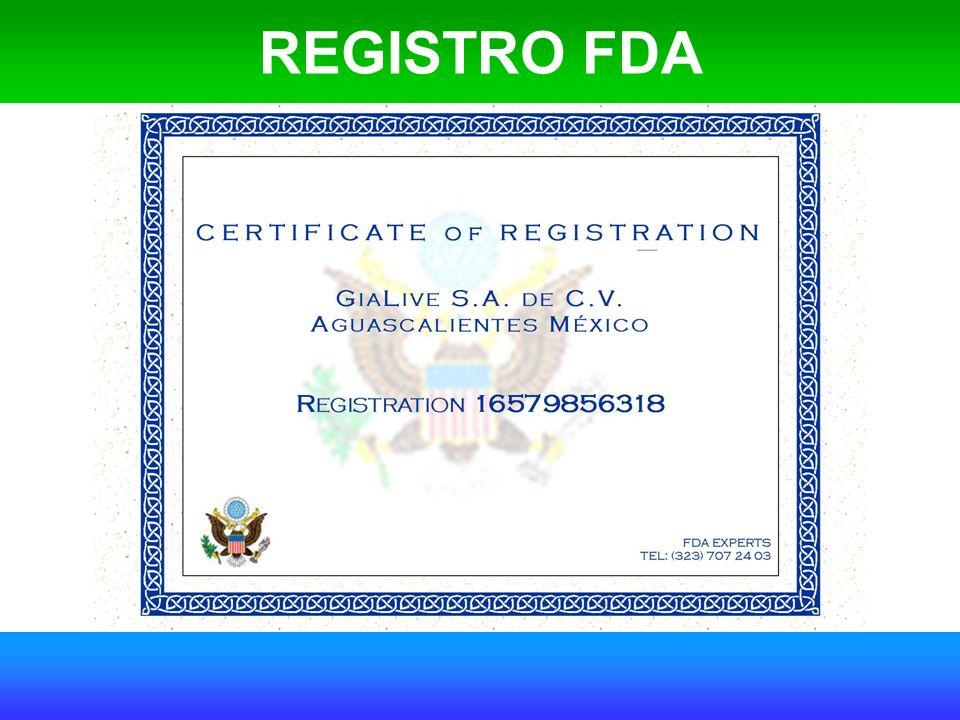 REGISTRO FDA