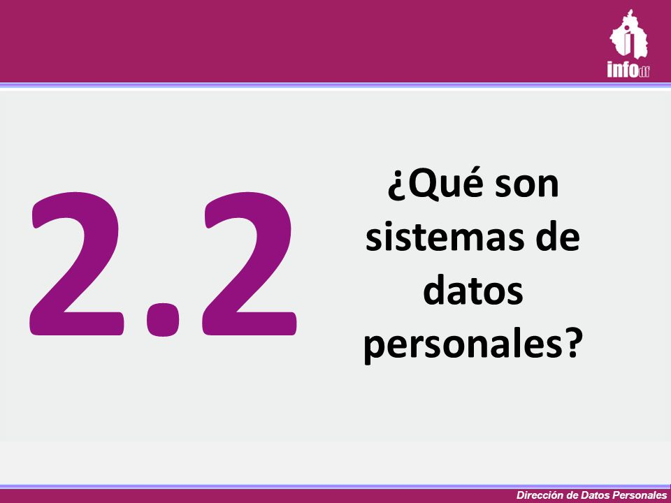 ¿Qué son sistemas de datos personales