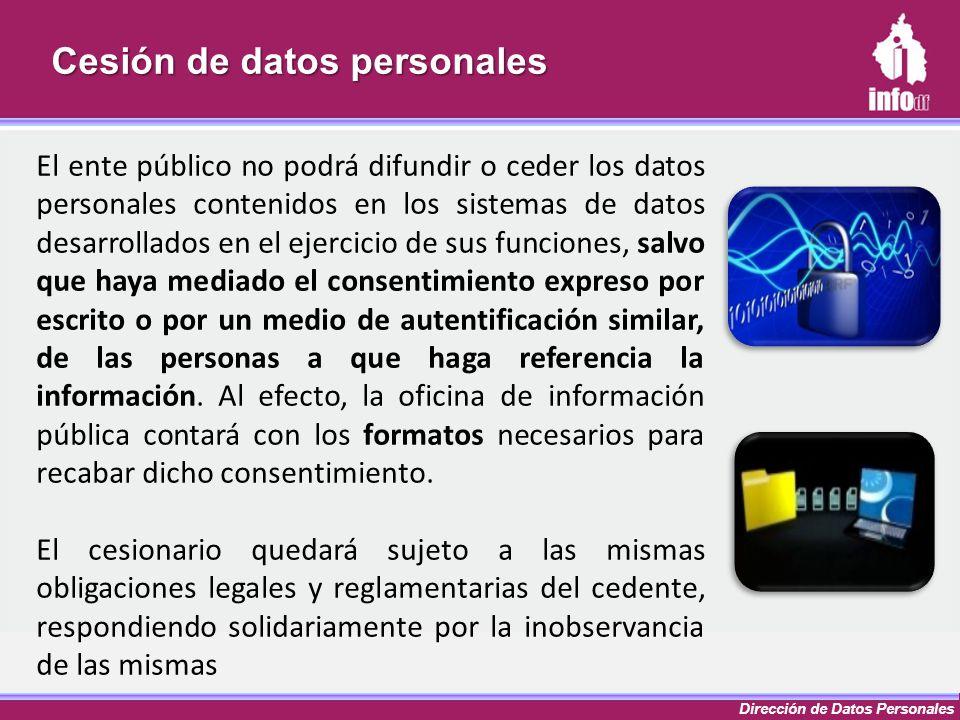 Cesión de datos personales