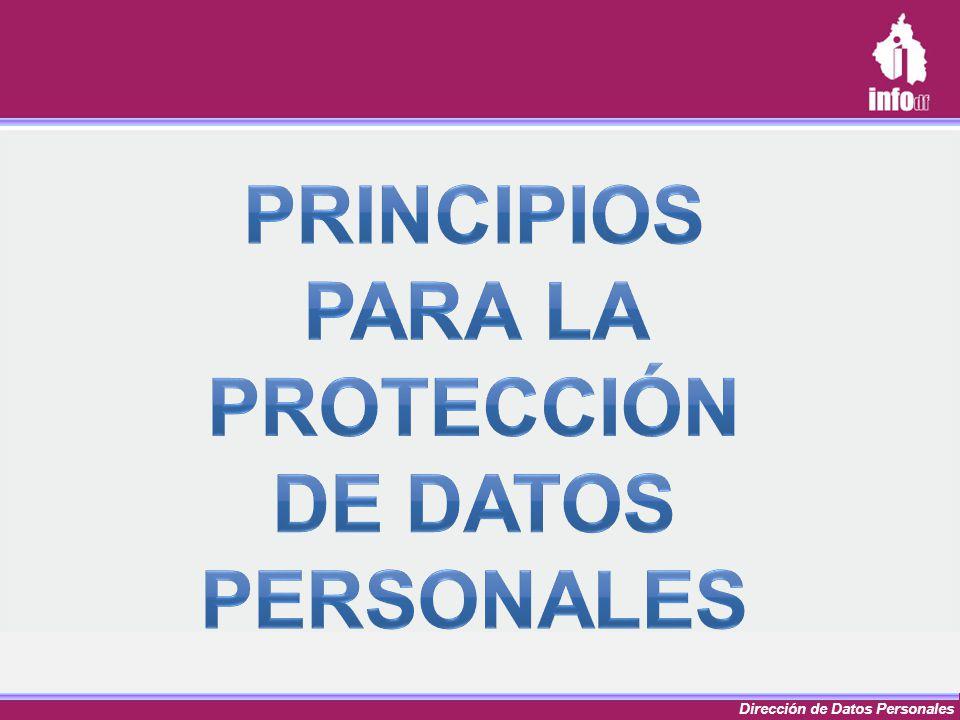 Principios para la protección de datos personales