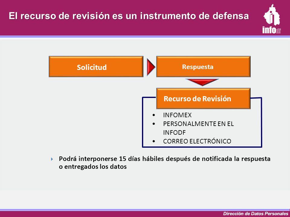 El recurso de revisión es un instrumento de defensa