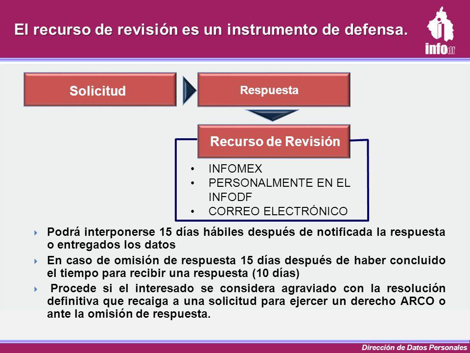 El recurso de revisión es un instrumento de defensa.