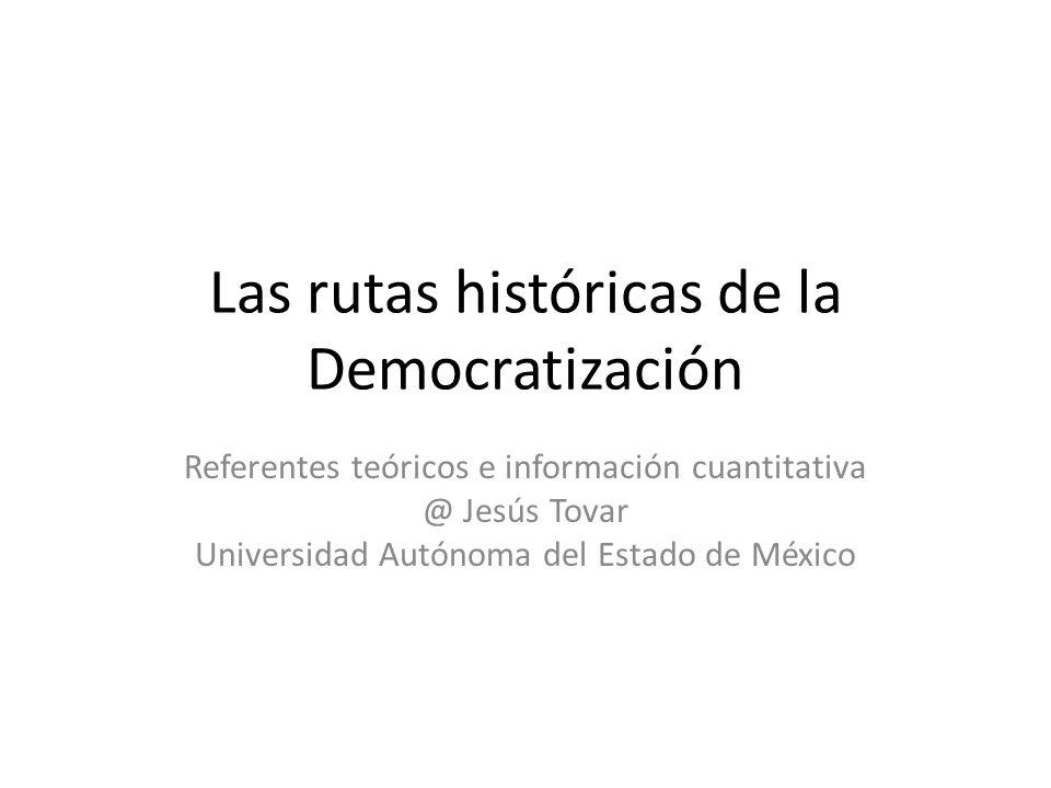 Las rutas históricas de la Democratización