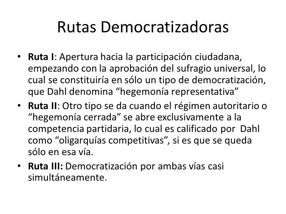 Rutas Democratizadoras