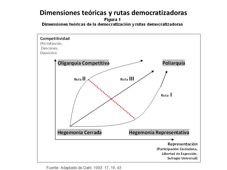 Dimensiones teóricas y rutas democratizadoras