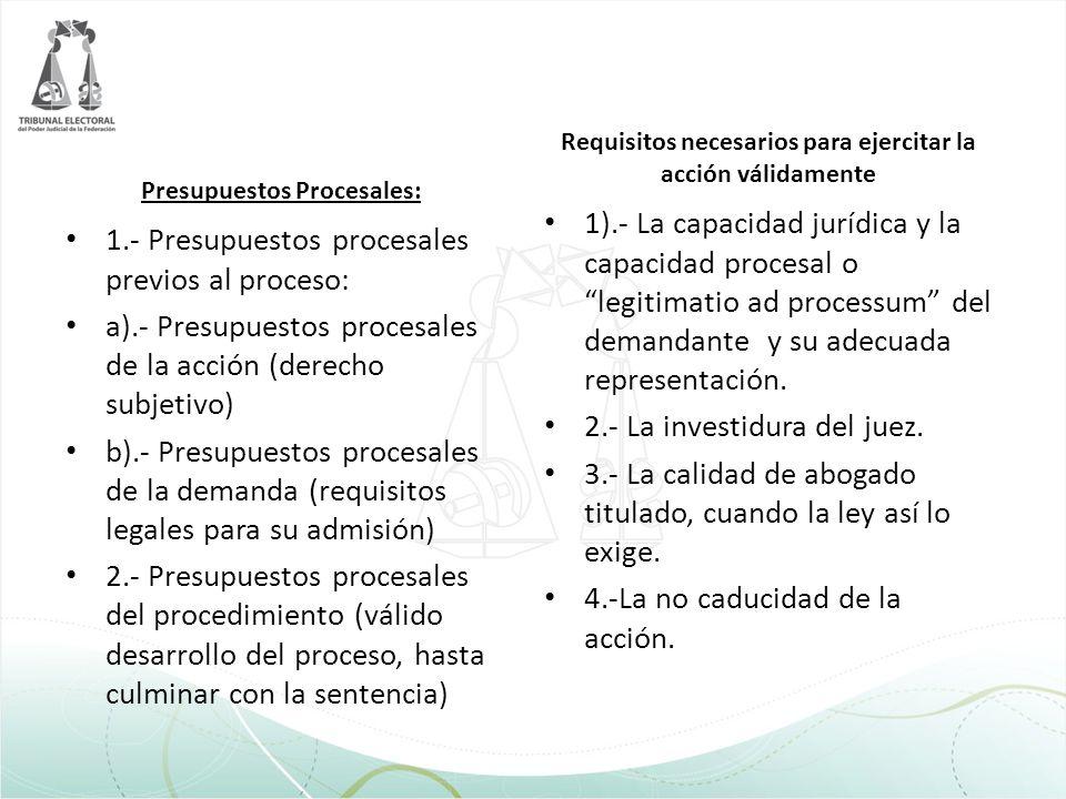 2.- La investidura del juez.