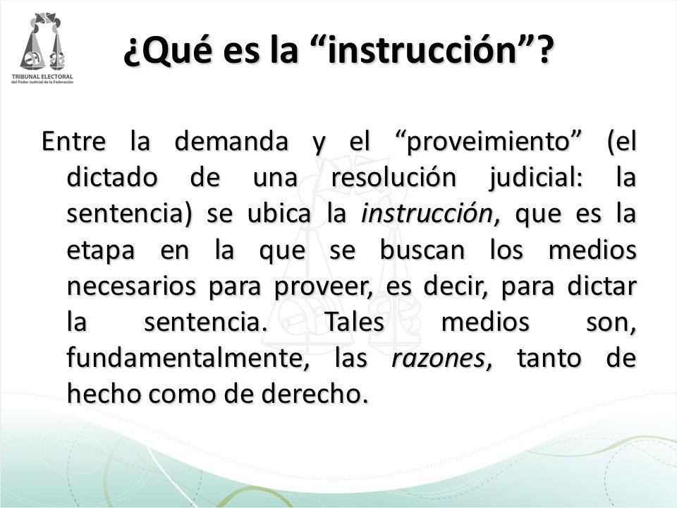 ¿Qué es la instrucción