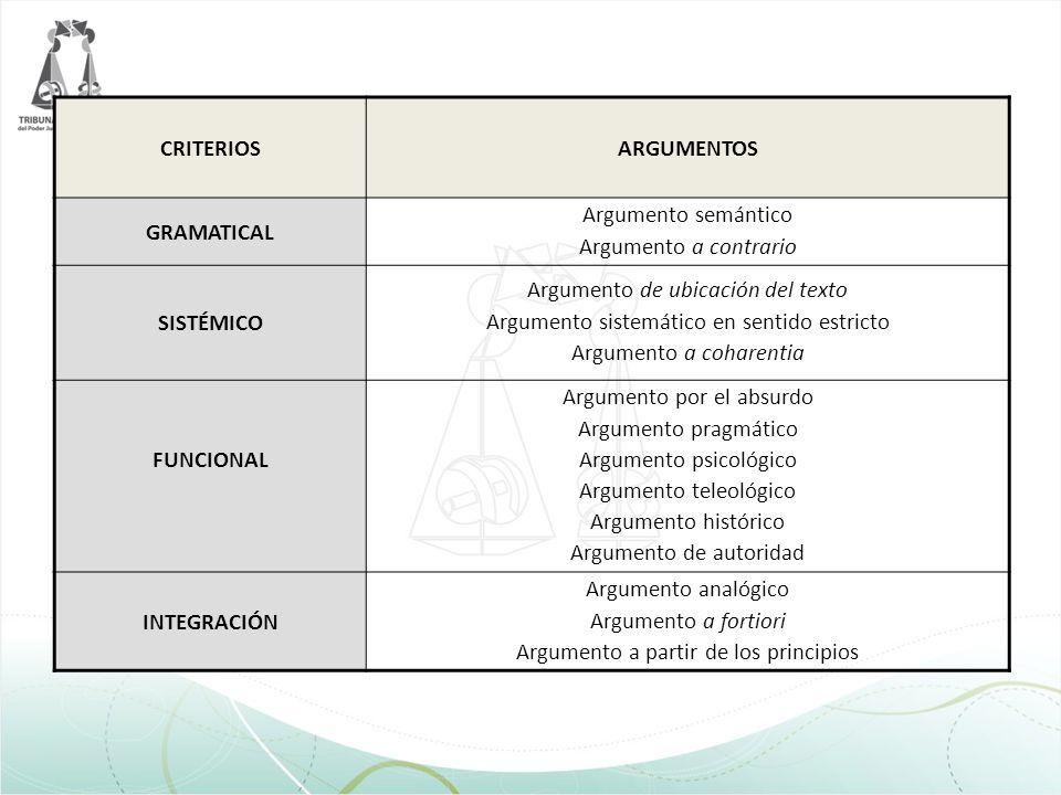CRITERIOS ARGUMENTOS GRAMATICAL SISTÉMICO FUNCIONAL INTEGRACIÓN