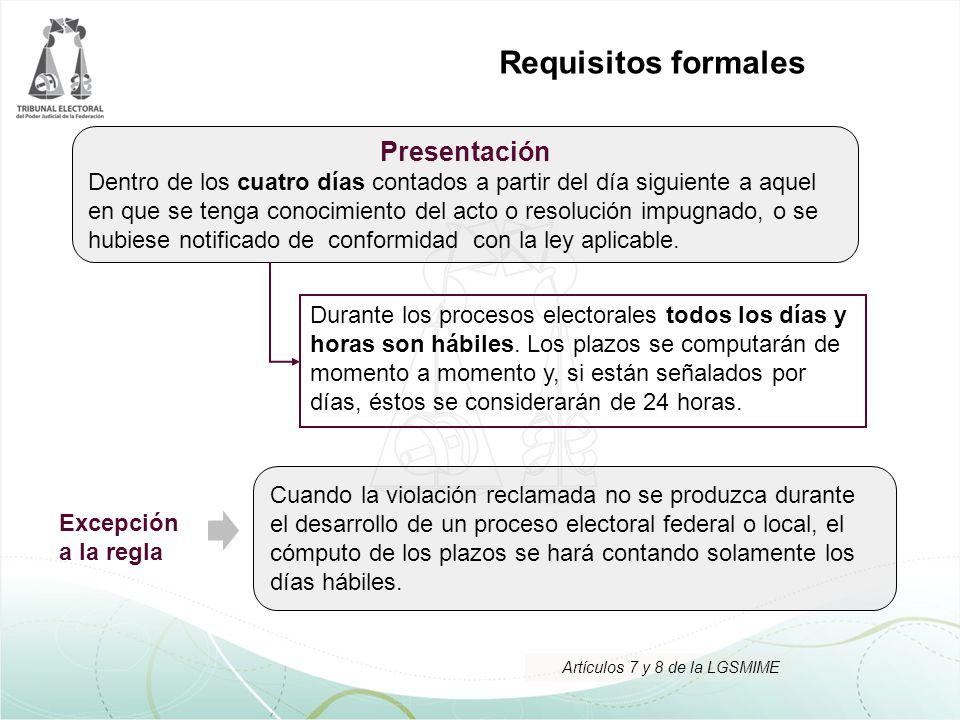 Requisitos formales Presentación