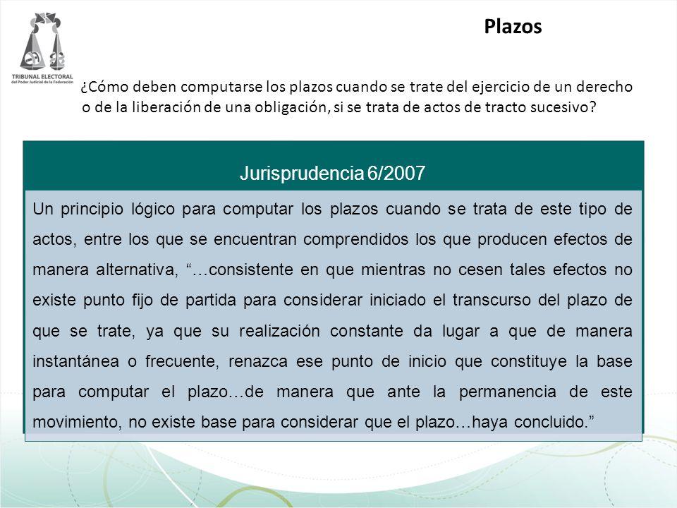 Plazos Jurisprudencia 6/2007