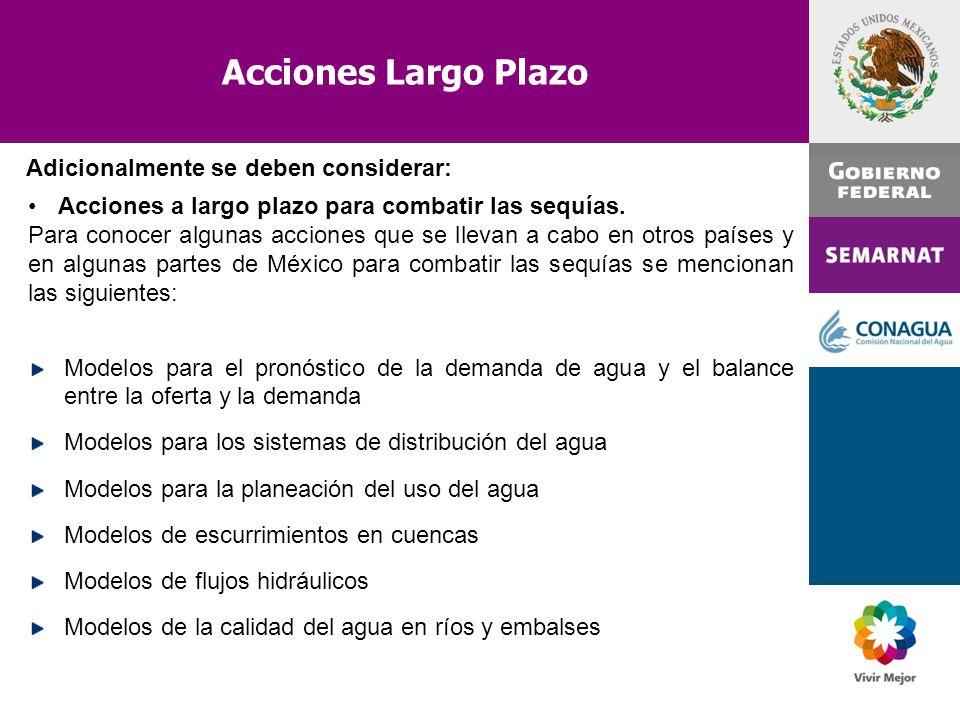 Acciones Largo Plazo Adicionalmente se deben considerar: