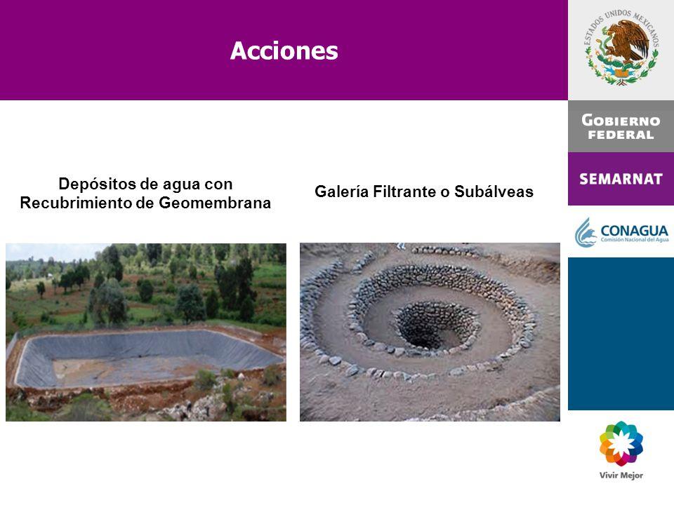 Depósitos de agua con Recubrimiento de Geomembrana