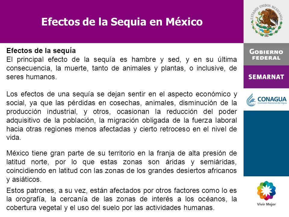 Efectos de la Sequia en México
