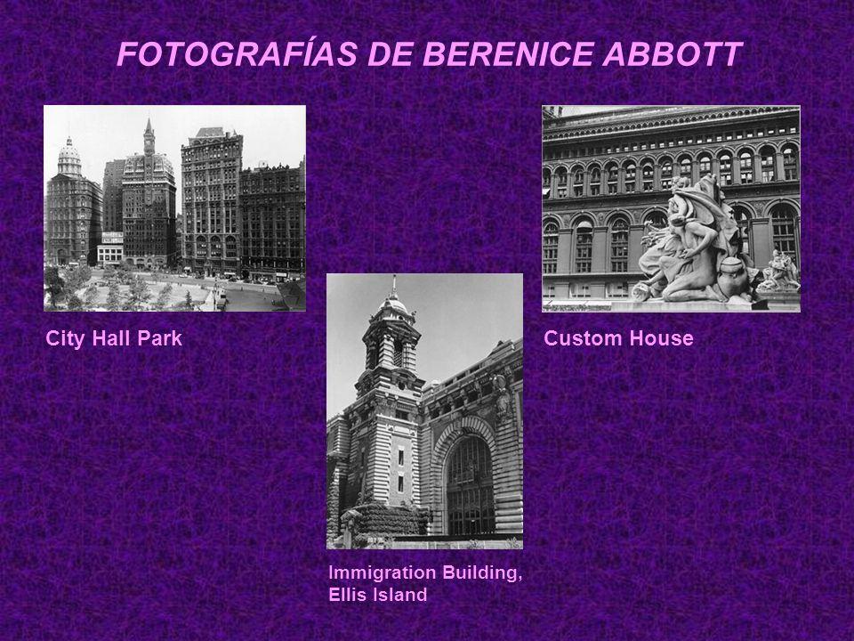 FOTOGRAFÍAS DE BERENICE ABBOTT