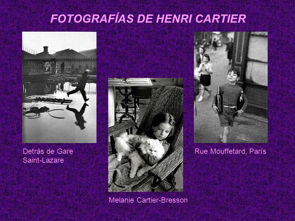 FOTOGRAFÍAS DE HENRI CARTIER